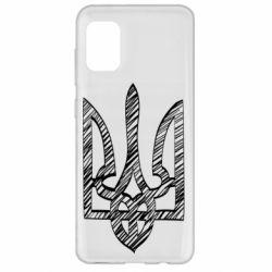 Чехол для Samsung A31 Striped coat of arms