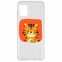 Чехол для Samsung A31 Striped tiger with smile