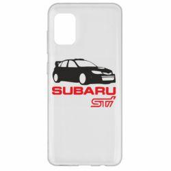 Чехол для Samsung A31 Subaru STI