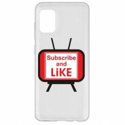 Чохол для Samsung A31 Subscribe and like youtube