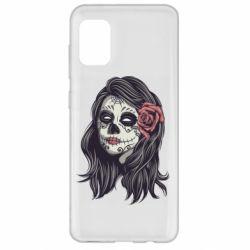 Чохол для Samsung A31 Sugar girl with a rose