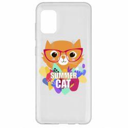 Чохол для Samsung A31 Summer cat