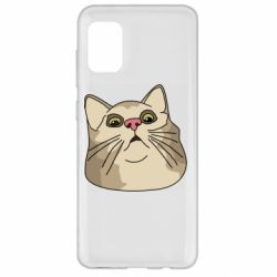 Чехол для Samsung A31 Surprised cat