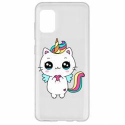 Чохол для Samsung A31 The cat is unicorn