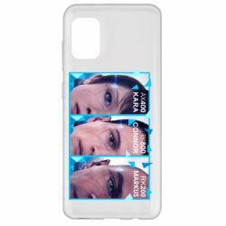 Чохол для Samsung A31 The faces of androids game Detroit: Become human