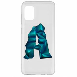 Чехол для Samsung A31 The letter a is cubic