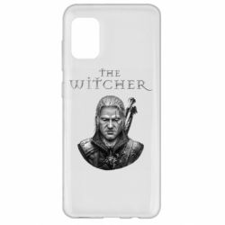 Чехол для Samsung A31 The witcher art black and gray