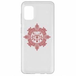 Чохол для Samsung A31 The Witcher Wolf and Pattern