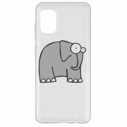 Чехол для Samsung A31 удивленный слон