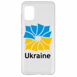 Чехол для Samsung A31 Ukraine квадратний прапор