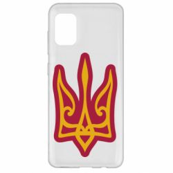 Чохол для Samsung A31 Ukrainian trident with contour