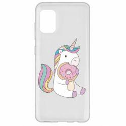 Чехол для Samsung A31 Unicorn and cake
