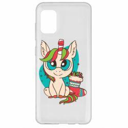 Чехол для Samsung A31 Unicorn Christmas