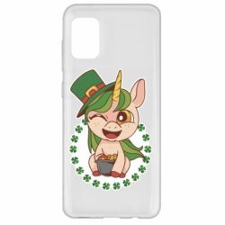 Чехол для Samsung A31 Unicorn patrick day