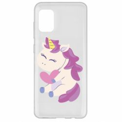 Чехол для Samsung A31 Unicorn with love