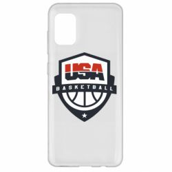 Чехол для Samsung A31 USA basketball