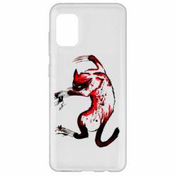 Чехол для Samsung A31 Watercolor Aggressive Cat