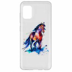 Чехол для Samsung A31 Watercolor horse