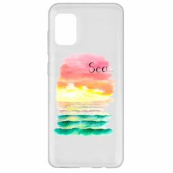 Чехол для Samsung A31 Watercolor pattern with sea