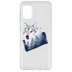 Чехол для Samsung A31 Wolf and forest