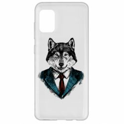 Чехол для Samsung A31 Wolf in costume