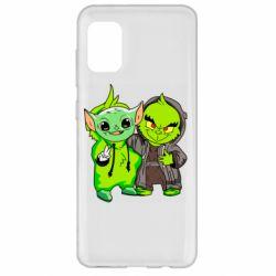 Чехол для Samsung A31 Yoda and Grinch