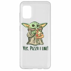 Чехол для Samsung A31 Yoda and pizza