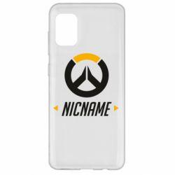 Чехол для Samsung A31 Your Nickname Overwatch