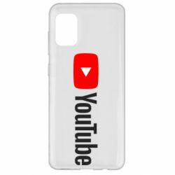 Чехол для Samsung A31 Youtube logotype