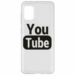 Чохол для Samsung A31 Youtube vertical logo