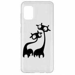 Чехол для Samsung A31 Жирафы