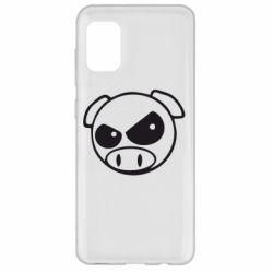 Чехол для Samsung A31 Злая свинка