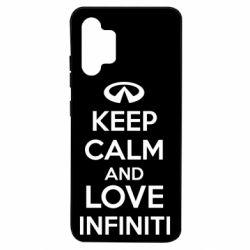 Чехол для Samsung A32 4G KEEP CALM and LOVE INFINITI