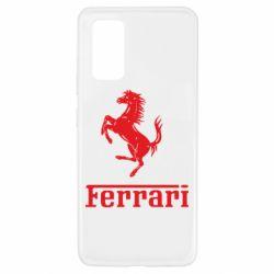 Чехол для Samsung A32 4G логотип Ferrari