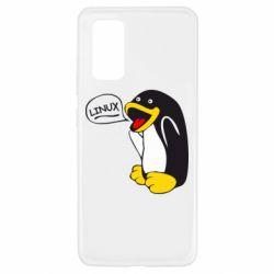 Чехол для Samsung A32 4G Пингвин Линукс