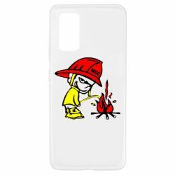 Чехол для Samsung A32 4G Писающий хулиган-пожарный