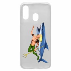 Чехол для Samsung A40 Aquaman with a shark