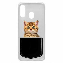 Чехол для Samsung A40 Cat in your pocket
