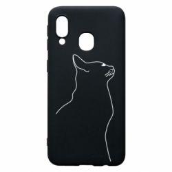Чохол для Samsung A40 Cat line