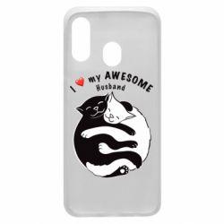 Чехол для Samsung A40 Cats and love