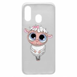 Чехол для Samsung A40 Cute lamb with big eyes