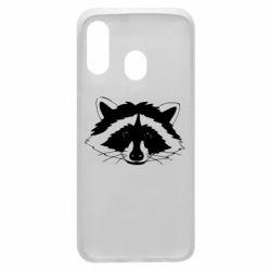 Чохол для Samsung A40 Cute raccoon face