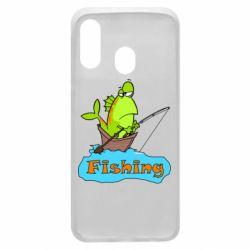 Чехол для Samsung A40 Fish Fishing