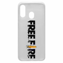 Чехол для Samsung A40 Free Fire spray