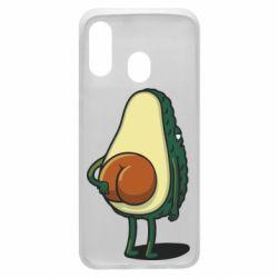 Чохол для Samsung A40 Funny avocado