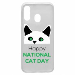 Чехол для Samsung A40 Happy National Cat Day