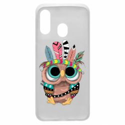 Чохол для Samsung A40 Little owl with feathers