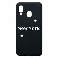 Чехол для Samsung A40 New York and stars