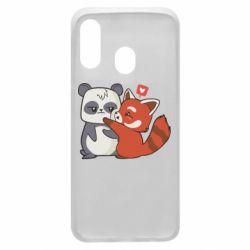 Чохол для Samsung A40 Panda and fire panda