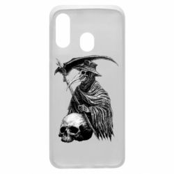 Чехол для Samsung A40 Plague Doctor graphic arts